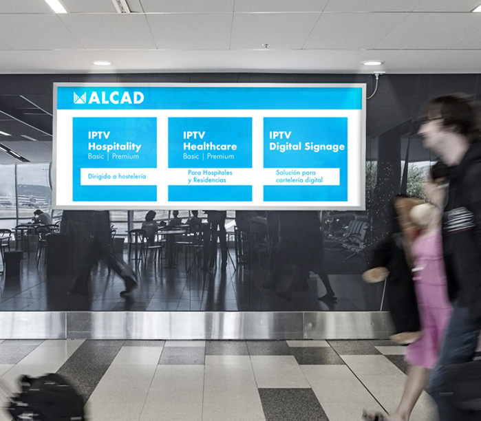 ALCAD DS, advanced digital signage for your content in communal areas