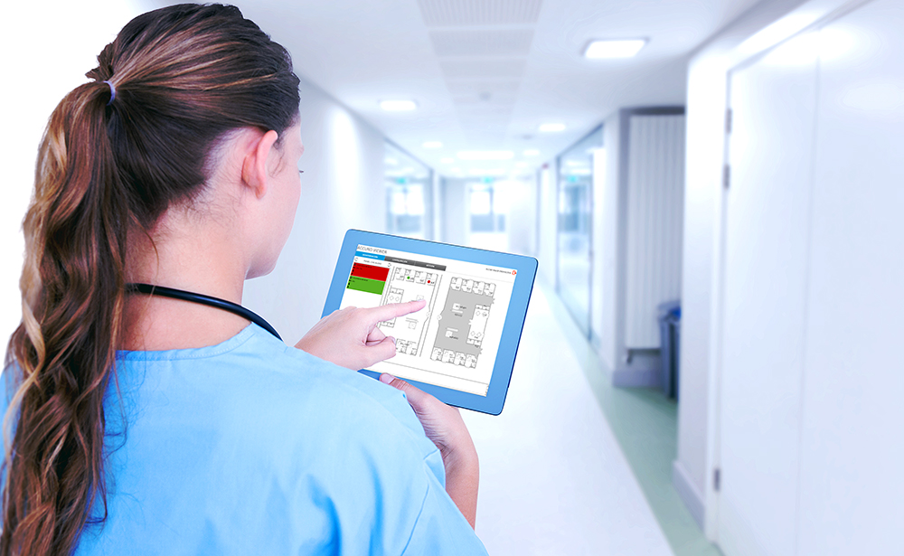 ACCURO: manage the entire nurse call system in a simple and complete way, minimizing the possibility of contagion