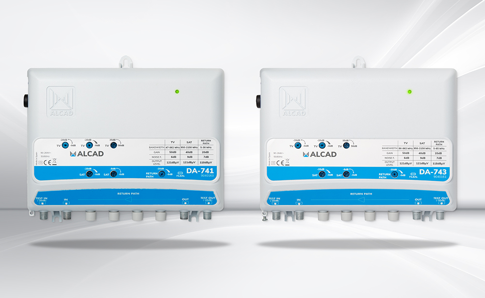 New DA-741 and DA-743 broadband distribution amplifiers for terrestrial and satellite TV